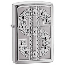 Zippo Swarovski Bling Emblem Chrome Lighter 20904 *NEW*