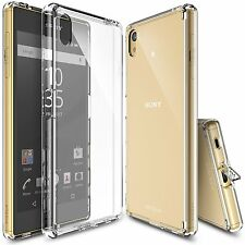 Sony Xperia Z5 Z5 Compact Case Ringke Fusion Hard Slim Dust Cap Clear Back Cover