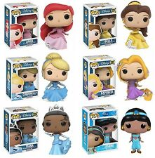 Funko Pop! Disney Princesses Set of 6 Vinyl Figures  #220,221,222,223,224 & 52