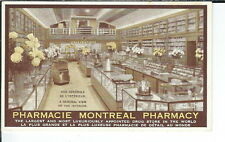 AY-136 - Pharmacy Montreal Store Interior Advertising Postcard, Canada 1901-07