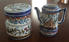 Hand Painted Decorative Tea Set Scene from Portugal Vintage Home Kitchen Decor