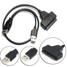 USB 2.0 to SATA 22Pin Data Power Cable Adapter For 2.5 HDD Hard Disk Driver RE