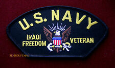 US NAVY IRAQI FREEDOM GULF WAR VETERAN HAT PATCH LOGO SEAL USS OIF PERSIAN GIFT