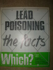 VINTAGE WHICH MAGAZINE APRIL 1973 LEAD POISONING - COOKERS - COATS OF ARMS