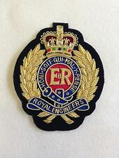 Royal Engineers Blazer Badge, RE, Wire Embroidered, Army, Jacket, Military, Corp