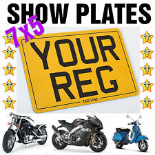 "7""x5"" MOTORCYCLE BIKE SHOW SMALL Scooter REG NUMBER PLATE 7x5 fixing included"