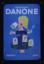Affiche YAOURT DANONE par ALAIN GAUTHIER yoghourt 40X60 cm