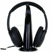 5in1 Wireless Headphone Headset Monitor FM Radio MIC for PS3 PS4 MP3/4 PC DVD