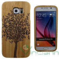 Custodia cover ALBERO in VERO LEGNO per Samsung Galaxy S6 G920F rigida case wood