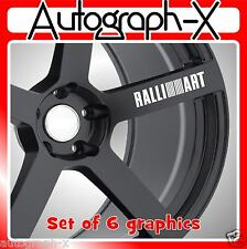 RALLI ART alloy wheel self adhesive vinyl graphic sticker decal