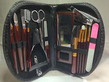 18 tlg. Maniküre und Make-Up Set Elina Etui Nagelpflege schwarz 26cm Colorbox