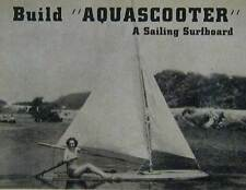 12' Aquascooter Sailboard Surfboard 1939 How-To build PLANS
