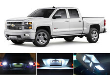 LED Package License Plate + Vanity + Reverse for Chevrolet Chevy Silverado 8 Pcs