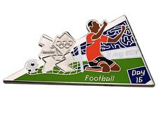 "OFFICIAL LICENSED LONDON 2012 OLYMPIC GAMES PIN / BADGE ""FOOTBALL"" DAY #16"