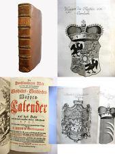 Wappenkalender 1757 - 73 Wappenkupfer