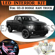 10pc Interior LED Light Bulbs Package Kit for 02-11 Dodge Ram 1500-3500