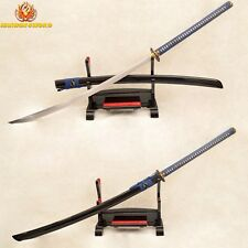 Clay Tempered 1095 Steel Japanese Samurai Naginata Sword Full Tang Blade Sharp