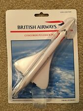 BA CONCORDE Model Toy British Airways Gift with Pull back action Rollings Wheels