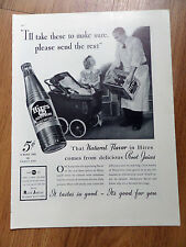 1937 Hires Root Beer Ad  Little Girl Doll & Buggy