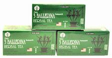 3 BOXES OF 3 Ballerina Herbal Tea Dieters' Drink 54 Tea Bags in Total