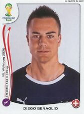 N°338 DIEGO BENAGLIO # SWITZERLAND STICKER PANINI WORLD CUP BRAZIL 2014