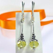 A541 Ohrringe 925 Silber Schmuck mit Swarovski Elements Kristall Jugendstil Neu