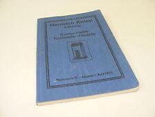 alter Katalog Buch transport. Kachelofen Ausgabe von 1913 Heinrich Kniep Leipzig
