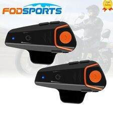 2x 1000m Bluetooth Intercom Waterproof BT-S2 Motorcycle Motorbike Helmet Headset