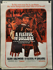 FISTFUL OF DOLLARS 1967 ORIG 30X40 MOVIE POSTER CLINT EASTWOOD SERGIO LEONE
