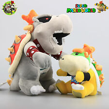 2x Super Mario Bros 11'' Dry Bones King Koopa Bowser JR. 7'' Plush Doll Soft Toy