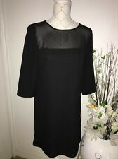 Robe Chic Droite Noir Taille 38 Marque La Redoute Neuf