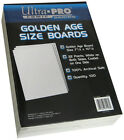 200 Ultra Pro Golden Size Resealable Storage Bags And Boards New Factory Sealed