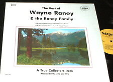 WAYNE RANEY & THE RANEY FAMILY Best of LP RARE COUNTRY GOSPEL ROCKABILLY