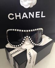 CHANEL BLACK PEARL DUBAI SUNGLASSES GLASSES NEW GORGEOUS SOLD OUT RARE