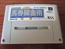 Keiba Yosou Baken Renkinjutsu      -- SHVC-4K  -- pour SUPER FAMICOM  / JAP.