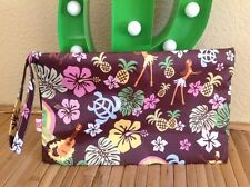 fab retro tropical hawaiian tiki rockabilly hula toiletry cosmetic travel bag