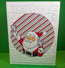 Santa  Wobble 4pc set Christmas L@@K@examples art impressions rubber stamps
