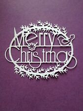 10 x White  (Merry Christmas )Christmas Die Cuts