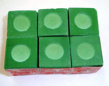 6 Pieces of Green Pool Billiard Chalk 1/2 Dozen Cue Q Tip Table Free Shippin NEW