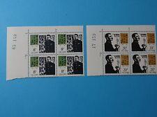 Stamps CHINA PRC * SC 1716-17* LU XUN, Writer * Blks of 4 * MNH * 1981