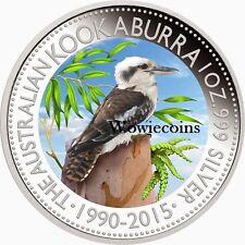 2015 Australian 1 oz 0.999 Silver Kookaburra Colourized Collectable Coin