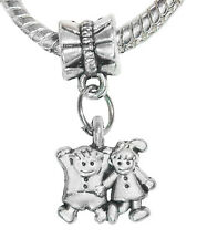 Little Boy Girl Son Daughter Kids Twins Dangle Bead for Silver Charm Bracelet
