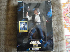 "RARE .Han Solo.Guerre Stellari.12"" Action Figure.Kenner.Boxed.Quick draw action."