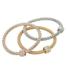 Jewelry Bracelets 3 Pieces Bangles 18K Gold Silver Rose Gold Plated Women
