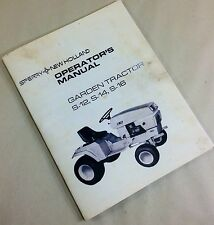 NEW HOLLAND SPERRY S-12 S-14 S-16 GARDEN TRACTOR OPERATORS OWNERS MANUAL FORD