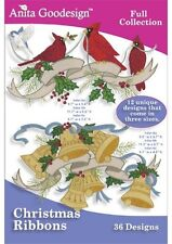 Christmas Ribbons Anita Goodesign Embroidery Design