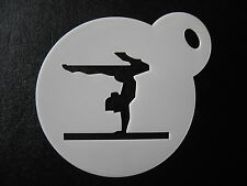 Laser cut small gymnastic hand stand  design cookie,craft& face painting stencil