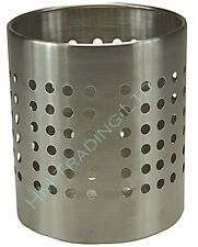 Stainless Steel Utensil Cutlery Holder Caddy Stand Rack Pot  With Holes