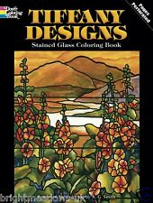 Tiffany Design Stained Glass Mandalas Adult Colouring Book Creative Art Therapy