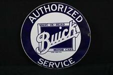 Porcelain Buick Valve In Head Motor Cars Authorized Service Sign Lot 193A